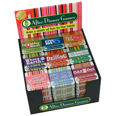 After Dinner Games Tin Fun Family Christmas Party Quiz Games Stocking Filler