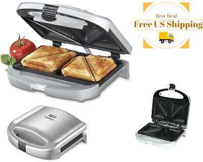Toasted Sandwich Grill Breakfast Dinner Panini Omelette Maker Grilled Cheese Hot