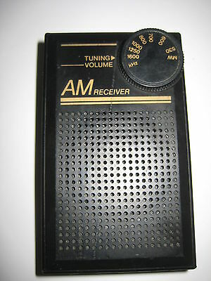 Blue Light AM Receiver Pocket Transistor Radio Model MA5 L@@K
