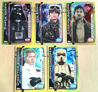 STAR WARS ROGUE ONE LIMITED EDITION CARDS LESA, LEMPA, LEMPB etc - ADD TO BASKET
