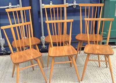Ercol Blonde Stickback Chairs in Exceptional Condition
