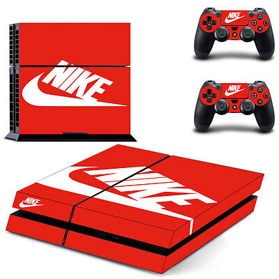 NIKE Skin Ps4 console Cover console Skin Stickers+ 2Pcs Controller skinnstickers