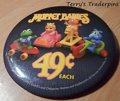 McDonalds Button Muppet Babies 1986 Pin Pinback