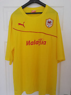 Cardiff City Away Football Shirt 2013-2014 Adults 3Xl