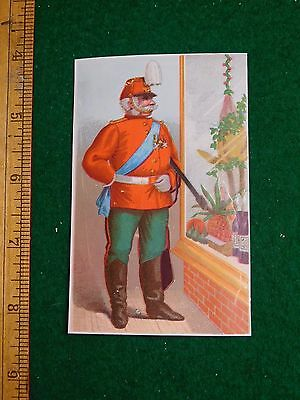 1870s-80s Military Man Uniform Standing at Window Victorian Trade Card F33