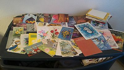 Vintage Giant 62 Card LOT of Assorted Unused Greeting/Holiday Cards w/ Envelopes