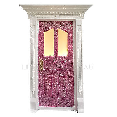 FAIRY DOOR Pink with Light Up LED Windows