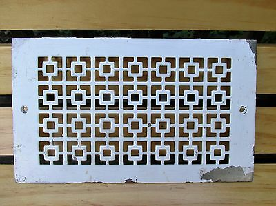 Interesting Smaller Size Vintage Heat Vent Cover Grille, Art Deco Style, Salvage