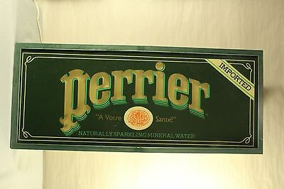 VINTAGE Perrier Hanging Lighted Advertisement Sign--A Votre Sante! Collectible