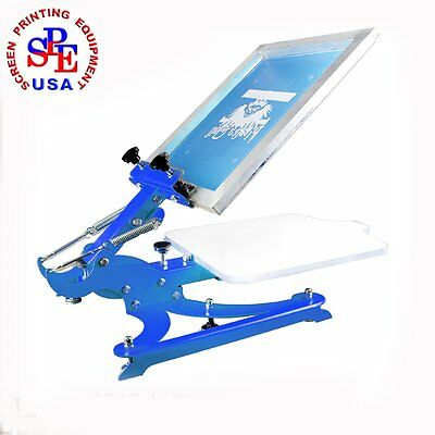 Single Color Screen Printing Machine 1 Color Screen Printing Press  Equipment