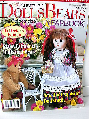 AUST DOLLS BEARS  & COLLECTABLES YEARBOOK  techniques tips ideas  VOL  5   NO 6