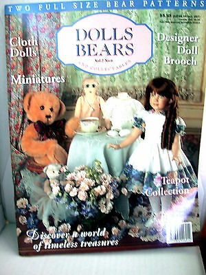 DOLLS BEARS  & COLLECTABLES  techniques patterns clothes tips ideas VOL  2  NO 6