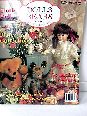 DOLLS BEARS  & COLLECTABLES  techniques patterns clothes tips ideas VOL  3  NO 3
