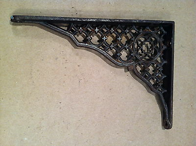 "Cast Iron Victorian Eastlake Shelf Bracket: 5"" x 7"""