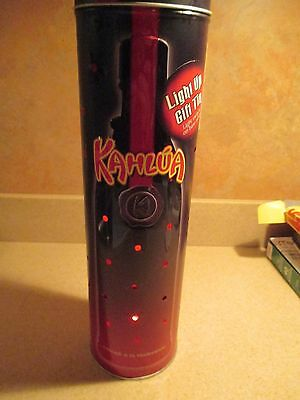 Kahlua Light Up Collectible empty metal Gift Tin Limited Edition 3 works