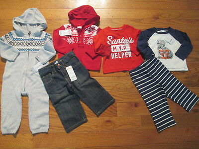6 piece LOT of baby boy fall/winter clothes size 12 12-18 months NWT GYMBOREE