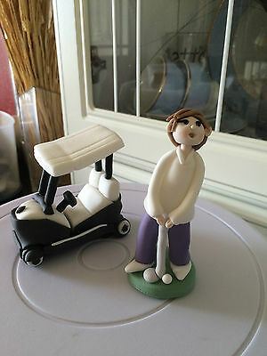 Edible Golf Cake Topper Decorations