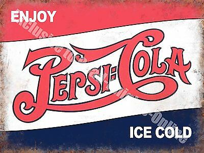 Pepsi Cola Classic Drink Advertising Cafe Diner Pub Bar Small Metal/Tin Sign