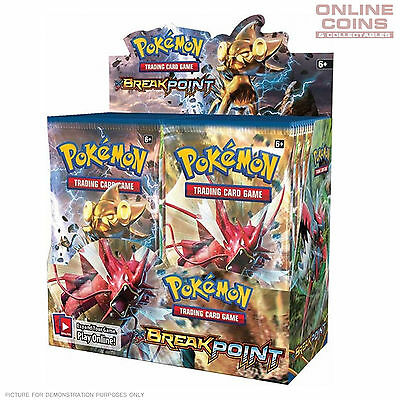POKEMON TCG XY BREAKpoint Boosters 4 x10 Card Booster Packs 40 CARDS TOTAL!