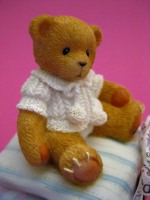 Covered Box - Cherished Teddies Baby with Locket Enesco 1999 Resin Retired NIB