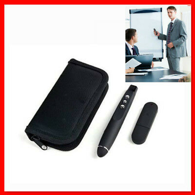 Wireless USB Remote Red Laser Pointer Pen PPT Control PowerPoint Clicker + Bag