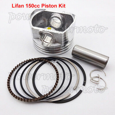 56mm Piston Kit 15mm Pin Fit Engine Lifan 150cc Oil Cooled CRF50 Dirt Pit Bike