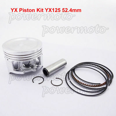 52.4mm Piston 13mm Pin YX YCF 125cc 153FMI Engine For Pit Bike Skyteam ST125