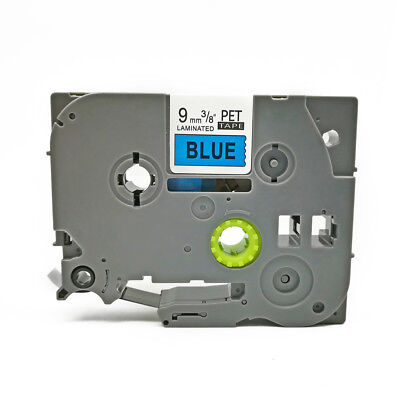 TZ 521 Black on Blue Compatible Brother TZe-521 Label Tape P-Touch laminated 9mm