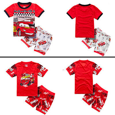 Cotton Car McQueen Pajamas Sleepwear Nightwear Short Set Toddler Boy PJS Pyjamas