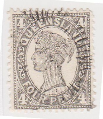 (AA-404) 1897 QLD 4d black side face (A)