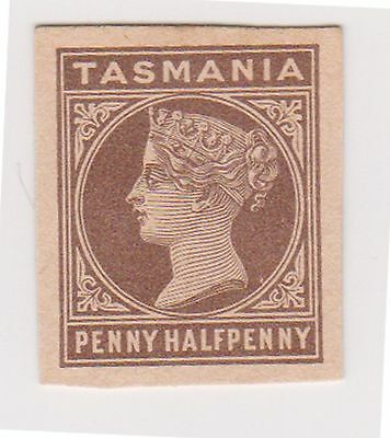 (AA-710) 1880 TAS 1½d brown QVIC cut out