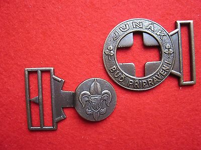 boy scout buckle for leather belt uniform pfadfinder new one haevy bronze actuel