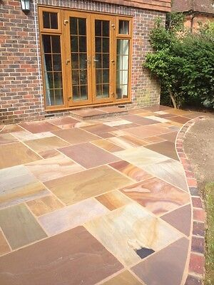 Rippon Indian Sandstone Calibrated Paving - Exact m2 Supplied