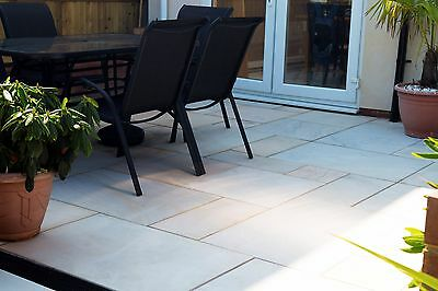 Mint Sawn & Honed Indian Sandstone Paving - 22mm  Patio Packs