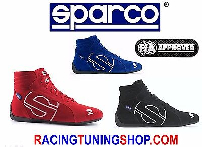 SPARCO RACE SHOES SCHUHE RACE BOOTS RALLY FIA 8856-2000 SLALOM SL-3 SIZE 39to46