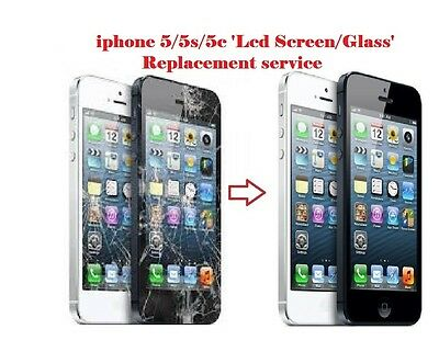 Iphone 5 5S 5C Lcd Screen Glass Repair Replacement Service