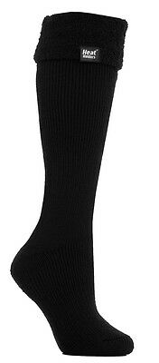 1 Pair Ladies Wellington Boot Heat Holders Socks size UK 4 - 8 EUR 37-42 Black