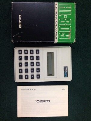 Vintage Casio HL-809 Electronic Calculator Box Instructions