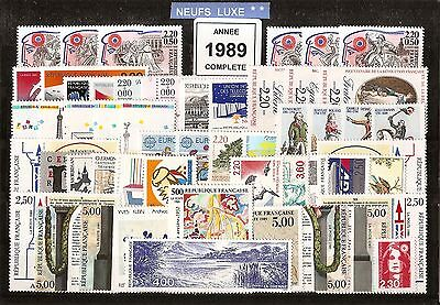 FRANCE Année COMPLETE 1989 - NEUF ** LUXE - 53 Timbres
