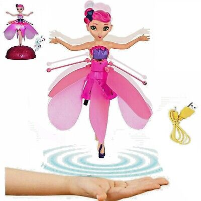 Wireless Flying Fairy Pink Princess Girls Kids Toy Doll Uk Stock