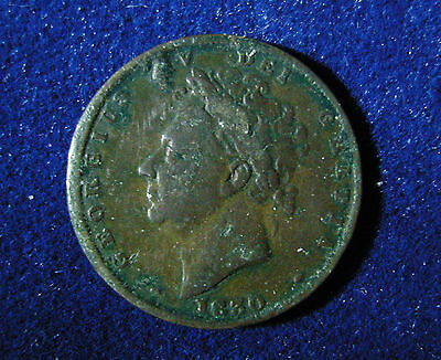 1830 Farthing - George IV in good condition BB265