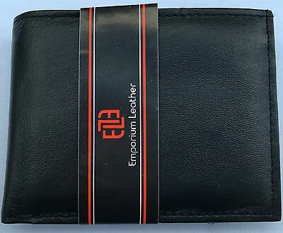 Men Black Real Soft Lether Wallet Coin Pouch no 05