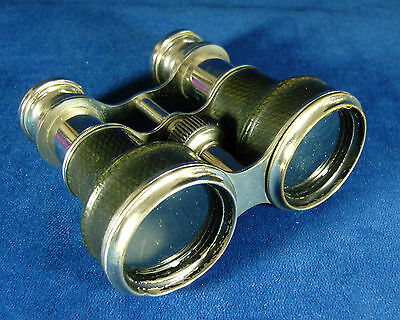 Antique Victorian Vintage Opera Glasses Chrome by Verres