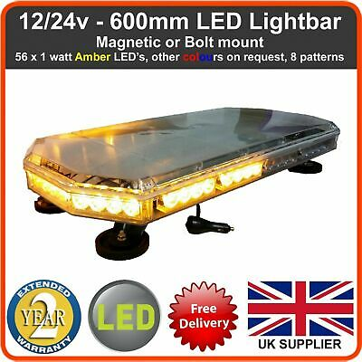 LED Recovery Light bar 600mm 12/24v Flashing Beacon Truck Warning Light Strobes