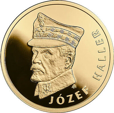 NEW ! 100 zloty 100th Anniv.of Reg. Independence by Poland - Józef Haller -GOLD
