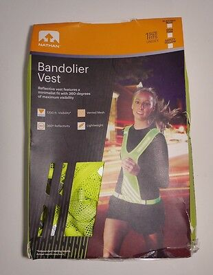 Nathan Bandolier Reflective Running / Cycling Vest - Safety Yellow / ONE SIZE