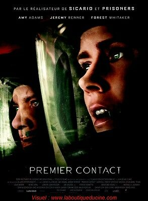 PREMIER CONTACT Affiche Cinéma / Movie Poster Amy Adams Jeremy Renner