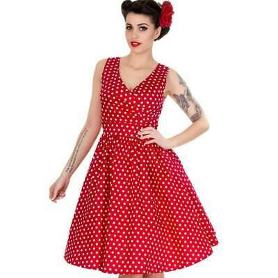 Dolly and Dotty May 50's Dress Red Polka Dot Rockabilly Pin Up Retro Vintage