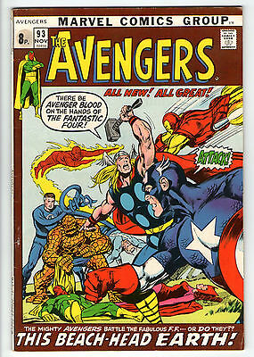 Avengers 93  Neal Adams double size issue  VG **