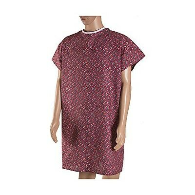 DMI Convalescent Hospital Gown with Back Tie, Rose Print